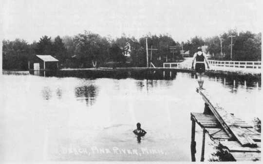 Diving Platform at Dam Park, Pine River
