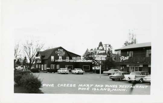 Pine Cheese Mart, a retail sales operation shown here in 1971, preserved Pine Island's reputation as a cheese-making center.