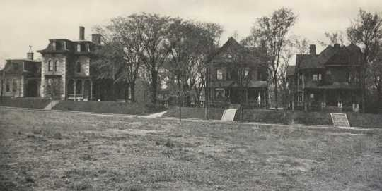 Graham Hall campus, ca. 1909.