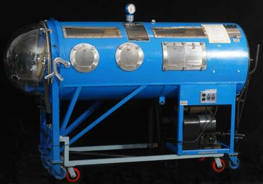 Iron lung used at Kenny Institute