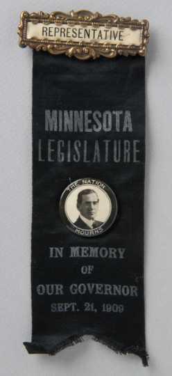 Governor John Johnson mourning badge