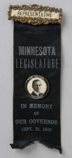Governor John Johnson mourning badge