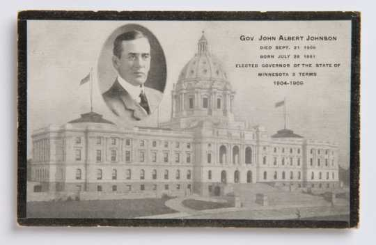 Governor Johnson memorial postcard sample