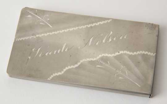 Governor Knute Nelson's aluminum calling card case