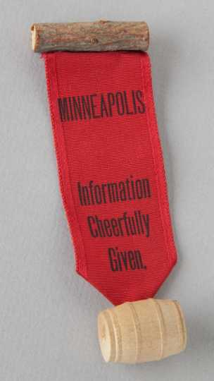 1892 Republican National Convention badge