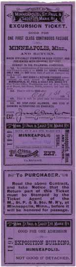 Soo Line Railway passenger ticket