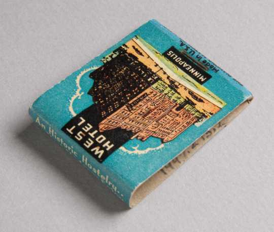 West Hotel matchbook (back)