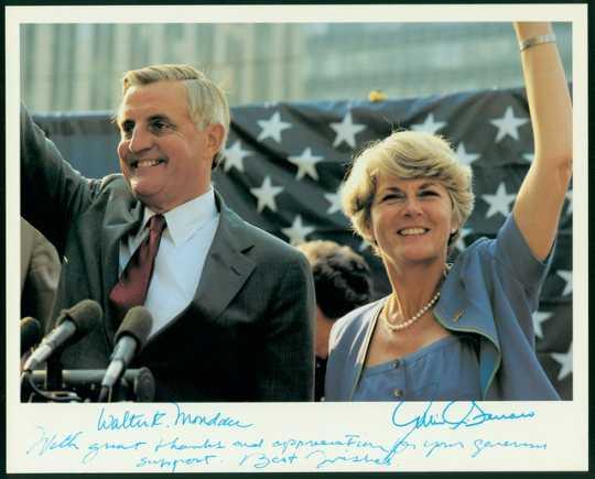 Walter Mondale and Geraldine Ferraro