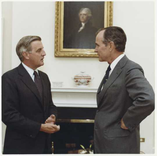 Walter Mondale and George H. W. Bush
