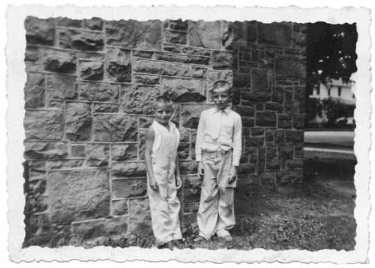 Walter Mondale with his brother
