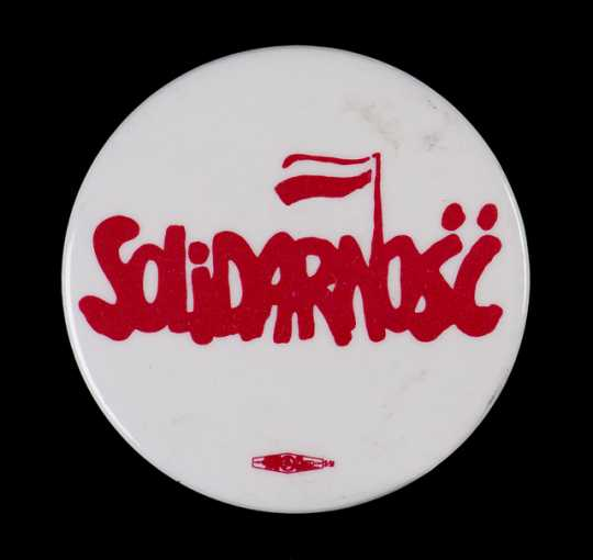 Polish labor union button