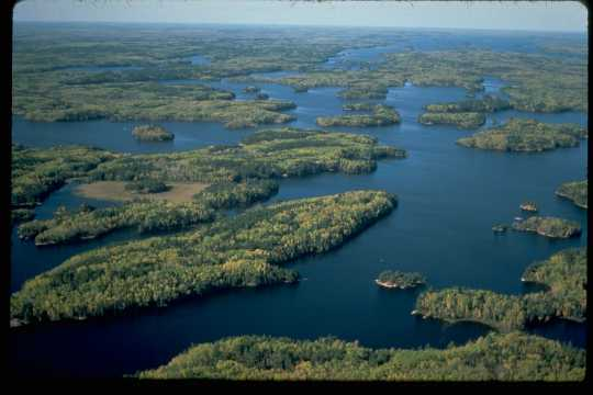 Overhead view of Voyageurs National Park