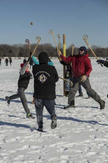 Lacrosse game on White Bear Lake