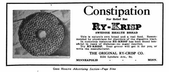 Ry-Krisp advertisement, 1919.