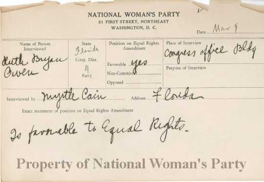 Congressional voting card