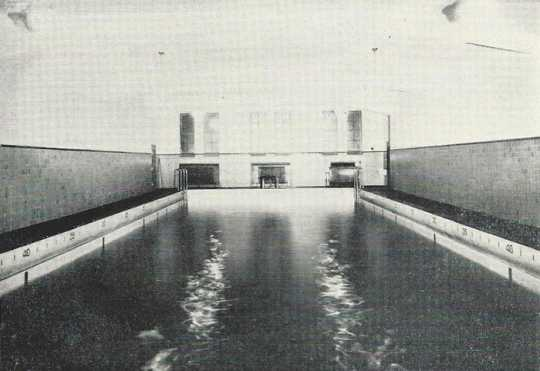 Black and white photograph of the NWSA swimming pool, 1932.