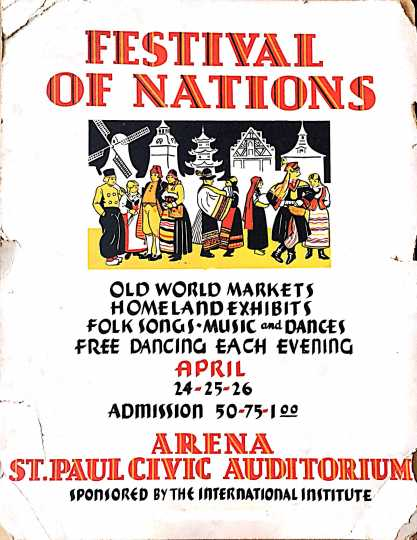 Original poster from the 1936 Festival of Nations