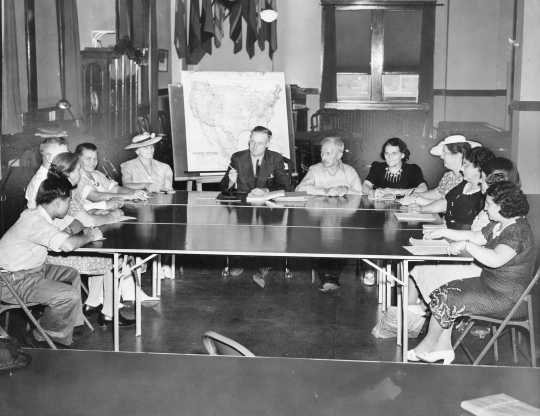 Citizenship class at the YWCA location of the International Institute, 1940