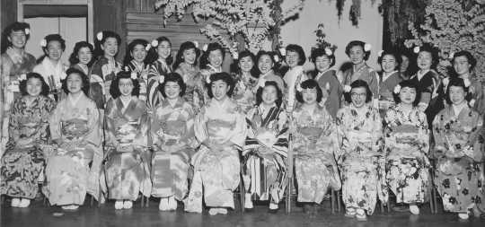 Japanese group at the 1949 Festival of Nations