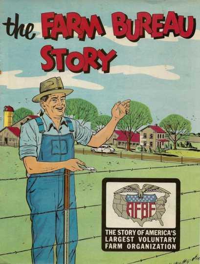 Color image of a Farm Bureau story booklet, 1950s.