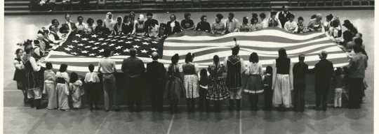 American flag presentation at the 1964 Festival of Nations