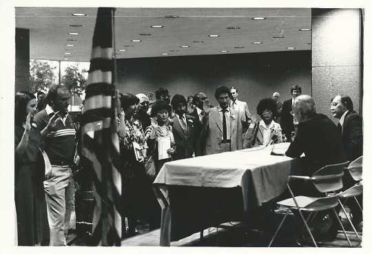 Citizenship ceremony, 1979