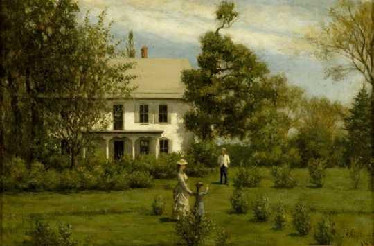 Painting of Washington Prairie Parsonage