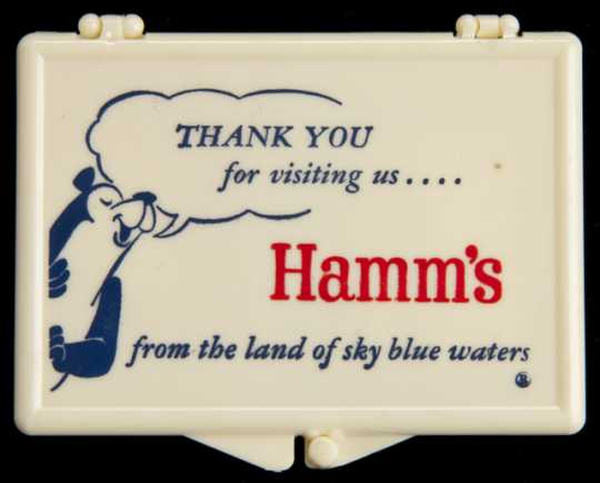 Photograph of Hamm's Beer needle case