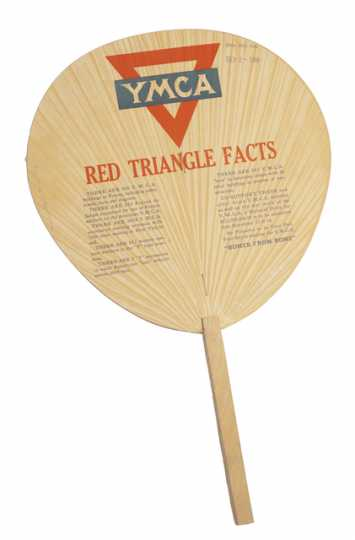 Color image of YMCA paper fan, 1918.