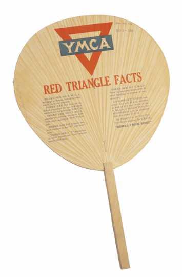 Color image of YMCA paper fan, 1918.