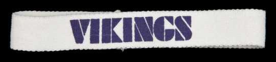 Color image of a Minnesota Vikings Headband, 1986.