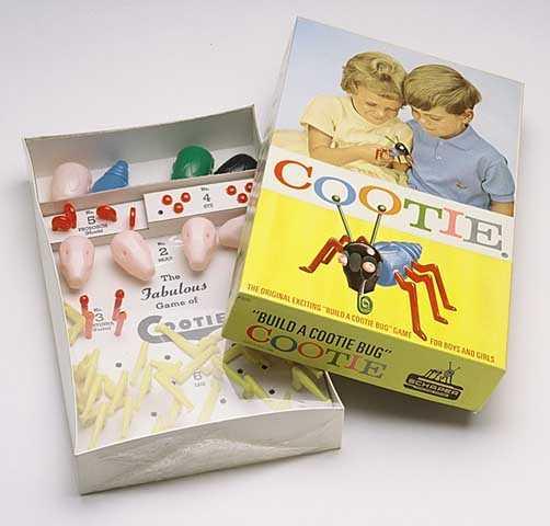 Cootie game in its original 1966 packaging