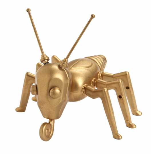Gold-painted Cootie figure