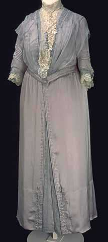 Color image of a dress worn by Mary T. Hill for portrait sitting, 1913.