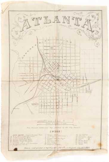 Map of Atlanta used by William Gates LeDuc