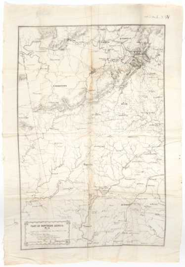 Quartermaster's map of northern Georgia