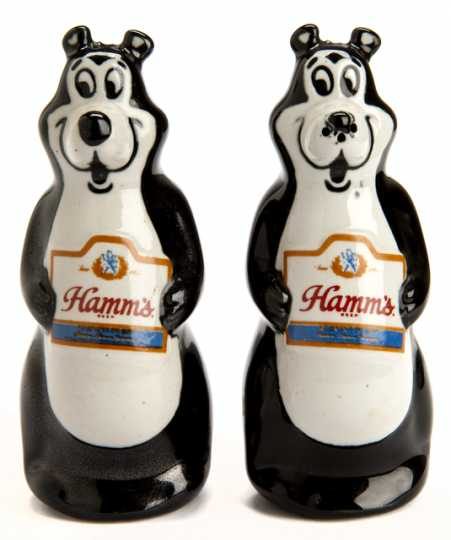 Photograph of Hamm's Brewing Company salt and pepper shakers
