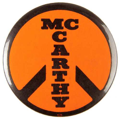Eugene McCarthy anti-war button