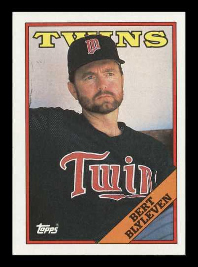 Bert Blyleven baseball card