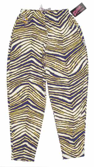 Color image of Minnesota Vikings Zubaz pants, 1990.