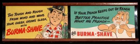 Burma-Shave signs