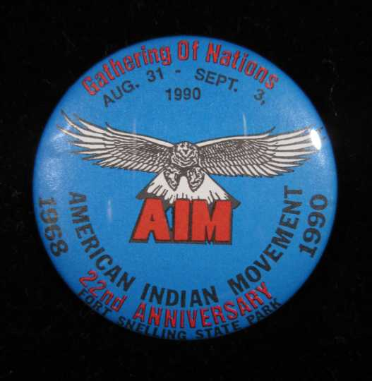 American Indian Movement button