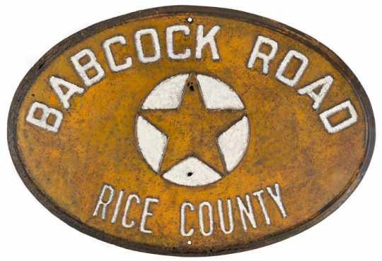 Babcock Road sign