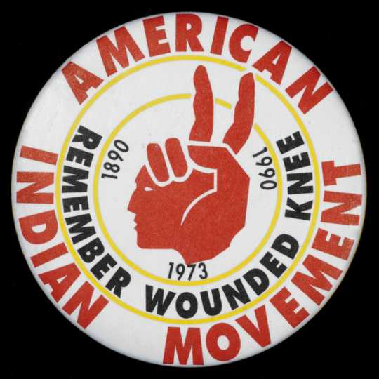 AIM (American Indian Movement) button