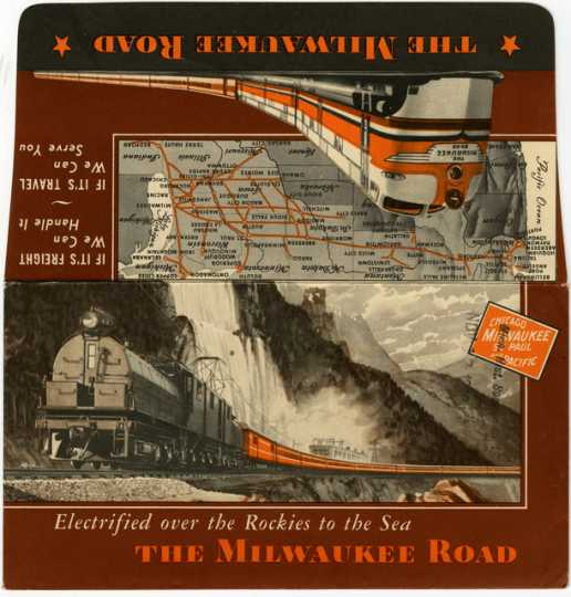 Milwaukee road tickets and envelope, manufactured 1948.