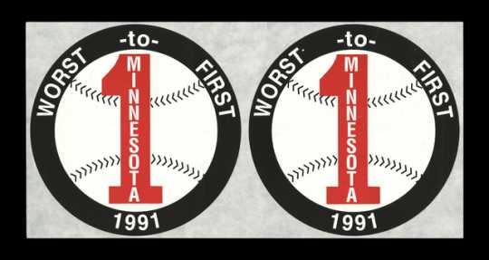 "Minnesota Twins ""Worst to First"" sticker"