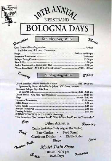 Nerstrand Bologna Days event poster, 1994.
