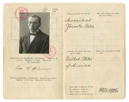 Passport issued to Swan Victor Anderson