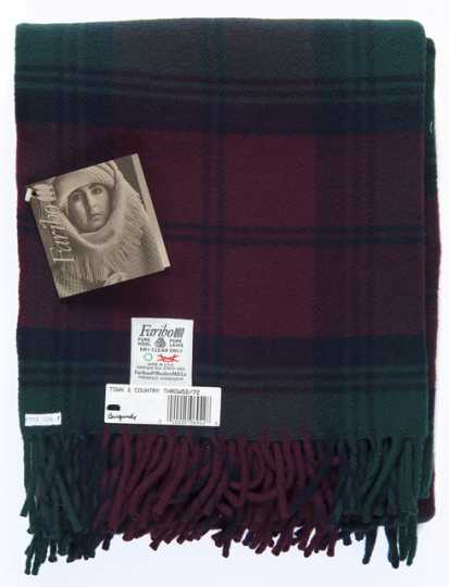 Color image of pure wool blanket manufactured by Faribault Woolen Mill Company, 1992.