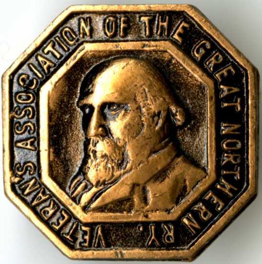 Great Northern Railway Veterans' Association pin